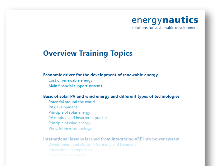 Overview Training Topics